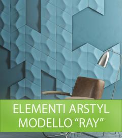 Elemento da Parete NMC ARSTYL RAY in Poliuretano per Illuminazione LED - SU ORDINAZIONE