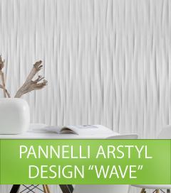 Pannello da Parete NMC ARSTYL WAVE in Poliuretano per Illuminazione LED - Cartone da 7 PEZZI - SU ORDINAZIONE