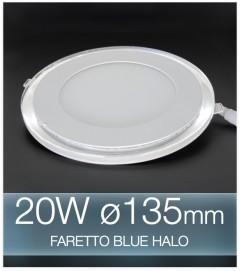 Faretto da Incasso Tondo 20W BLUE HALO BIANCO FREDDO (Lampada Downlight)