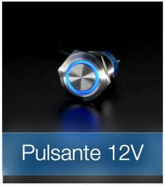 Interruttore LED per bassa tensione retroilluminato BLU - 12V