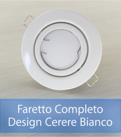 Faretto completo Bianco con PCB SAMSUNG 9W - Design CERERE - Dimmerabile - Made In Italy