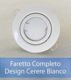 Faretto completo Bianco con PCB SAMSUNG 9W - Design CERERE - Dimmerabile - Made In Italy