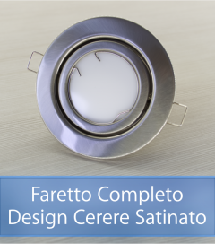 Faretto completo Satinato con PCB SAMSUNG 9W - Design CERERE - Dimmerabile - Made In Italy