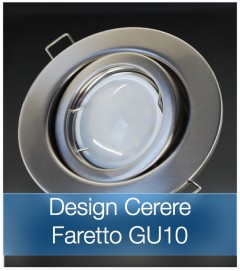 Corpo Faretto Satinato con Faretto LED GU10 5W - Design CERERE