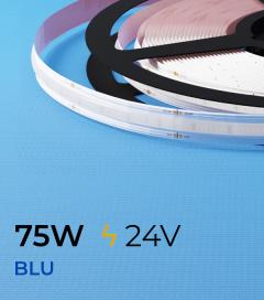 """Striscia LED COB COLOR """"Linea Continua"""" - 5 Metri - 75W - BLU 528 LED/m"""