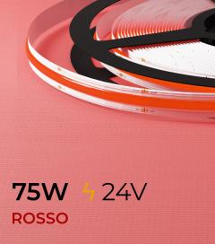 "Striscia LED COB COLOR ""Linea Continua"" - 5 Metri - 75W - ROSSO 528 LED/m"