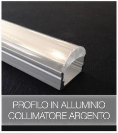 Profilo Piatto in Alluminio con collimatore di luce a 60 gradi