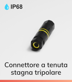Connettore a tenuta stagna IP68 Tripolare - 13A