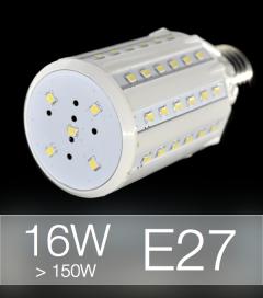 Lampadina LED CORN 16W E27 (150W) -  Bianco NATURALE