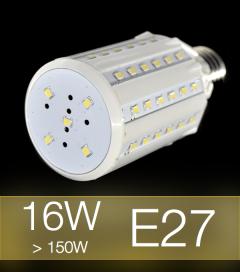 Lampadina LED CORN 16W E27 (150W) -  Bianco CALDO