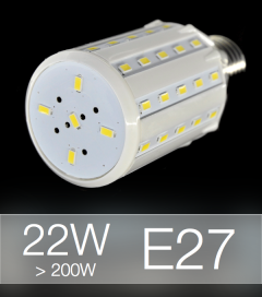 Lampadina LED CORN 22W E27 (200W) -  Bianco NATURALE