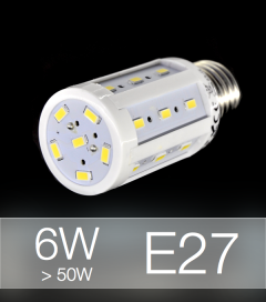 Lampadina LED CORN 6W E27 (60W) -  Bianco Naturale