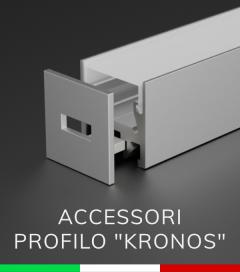 """Accessori per Profilo Piatto in Alluminio """"Kronos"""""""
