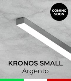 """Profilo in Alluminio """"Kronos Small"""" per Strisce LED - Anodizzato Argento"""