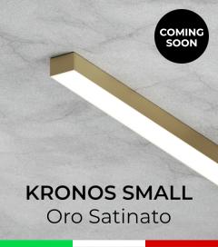 """Profilo in Alluminio """"Kronos Small"""" per Strisce LED - Oro Satinato"""