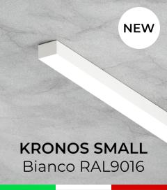 """Profilo in Alluminio """"Kronos Small"""" per Strisce LED - Verniciato Bianco RAL9016"""