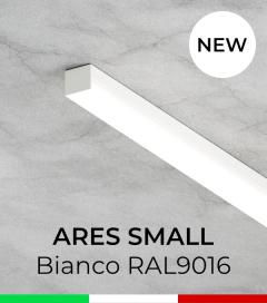 """Profilo in Alluminio """"Ares Small"""" per Strisce LED - Verniciato Bianco RAL9016"""