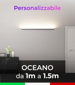 Lampada LED da parete Oceano - Da 100cm a 150cm - Personalizzabile - Dimmerabile - 24V