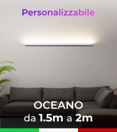 Lampada LED da parete Oceano - Da 150cm a 200cm - Personalizzabile - Dimmerabile - 24V