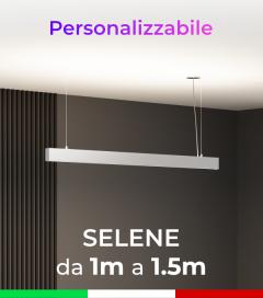 Lampada LED da Sospensione Selene - Doppia Emissione di Luce - Da 100cm a 150cm - Personalizzabile - Dimmerabile