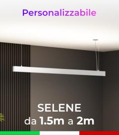 Lampada LED da Sospensione Selene - Doppia Emissione di Luce - Da 150cm a 200cm - Personalizzabile - Dimmerabile