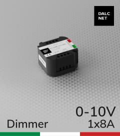 Dimmer DALCNET DLC1248-1CV-110 - 12V/24V versione 0-10 volt