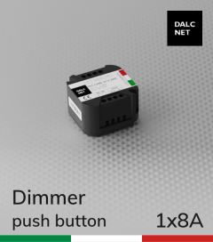 Dimmer DALCNET DLC1248-1CV  - 12V/48V  versione Push Button