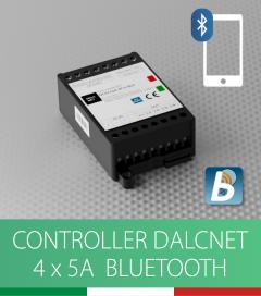 Controller DALCNET DLX1224-4CV-BLE controllo a pulsante e Smartphone