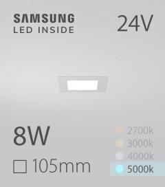Faretto da Incasso Quadrato Slim 8W BIANCO FREDDO - LED Samsung