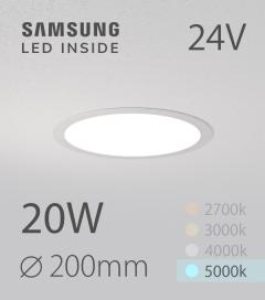 Faretto da Incasso Rotondo Slim 20W BIANCO FREDDO - Downlight - LED Samsung