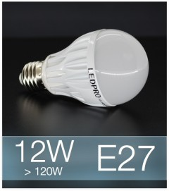 Lampadina LED  E27 12W Globe - Bianco FREDDO
