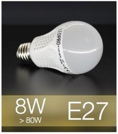 Lampadina LED  E27 8W Globe - Bianco CALDO