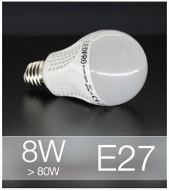 Lampadina LED  E27 8W Globe - Bianco NATURALE