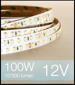 "SUPER OFFERTA: Striscia LED 2835 ""ECO"" - 5 Metri - 100W - SMD2835 BIANCO FREDDO 120 LED/m"