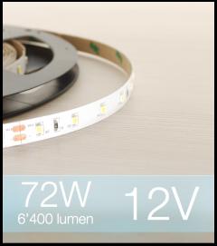 "SUPER OFFERTA: Striscia LED 2835 ""ECO"" - 5 Metri - 72W - SMD2835 BIANCO FREDDO 60 LED/m"