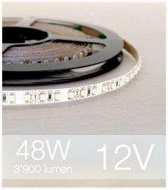 "SUPER OFFERTA: Striscia LED ""ECO"" - 5 Metri - 48W - 600 LED SMD3528 BIANCO NATURALE"