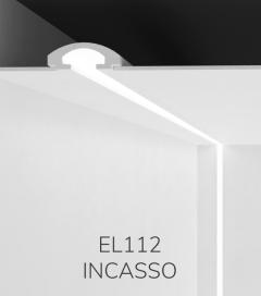 Cornice per LED da Incasso ELENI LIGHTING EL112 - Taglio di Luce Indiretta per 1 o 2 Strisce LED