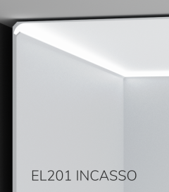 Cornice per LED da Incasso ELENI LIGHTING EL201 - Profilo Angolare Luce Morbida Angolo Soffitto