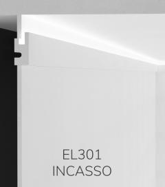 Cornice per LED da Incasso ELENI LIGHTING EL301 - Profilo Piano con Luce Unidirezionale per Soffitto o Parete