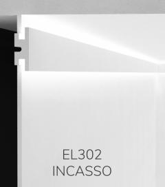 Cornice per LED da Incasso ELENI LIGHTING EL302 - Veletta a Doppio Taglio di Luce Diffusa in Superficie a Parete
