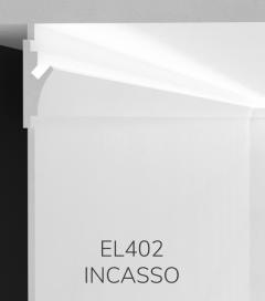 Cornice per LED da Incasso ELENI LIGHTING EL402 - Veletta da Incasso a Parete per Luce Diffusa