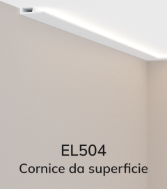 Cornice per LED ELENI LIGHTING EL504 - Vela Piana per Parete o Soffitto