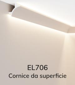 Cornice per LED ELENI LIGHTING EL706 - Doppio Taglio di Luce Angolare