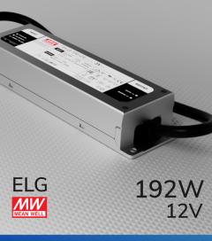 Alimentatore Meanwell ELG-200-12 12V 192W Resistente all'acqua, Versione Standard, A, B e DALI