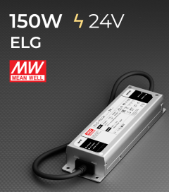 Alimentatore Meanwell ELG-150-24 24V 150W Resistente all'acqua, Versione Standard, A, B e DALI
