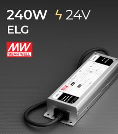 Alimentatore Meanwell ELG-240-24 24V 240W Resistente all'acqua, Versione Standard, A, B e DALI