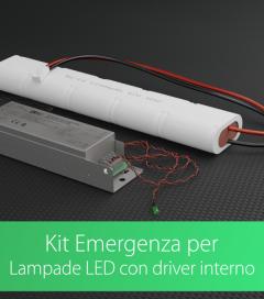 Kit di Emergenza luci a LED per Lampade con Driver interno - AcTEC