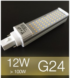 Lampadina LED G24 12W (100W) -  Bianco Caldo
