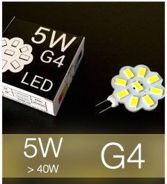 Lampadina LED G4 5W (40W) SMD 5630 - Bianco Caldo