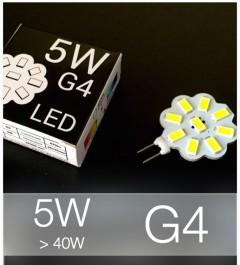 Lampadina LED G4 5W (40W) SMD 5630 - Bianco Naturale